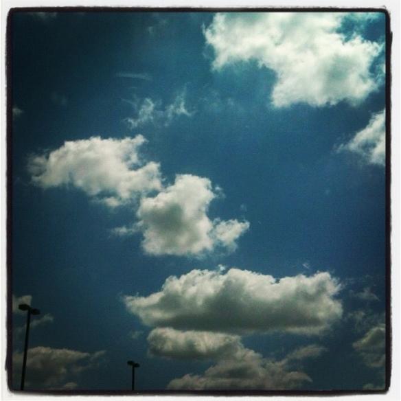A sample of the perfect sky over Tulsa, OK.