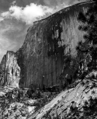 While hiking to Mirror Lake created this image of Half Dome, it was a good day.