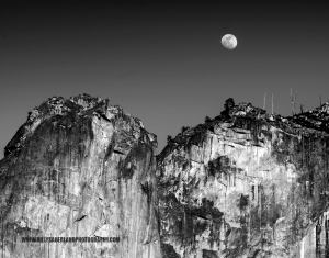 Moon over Leaning Tower, Yosemite Valley